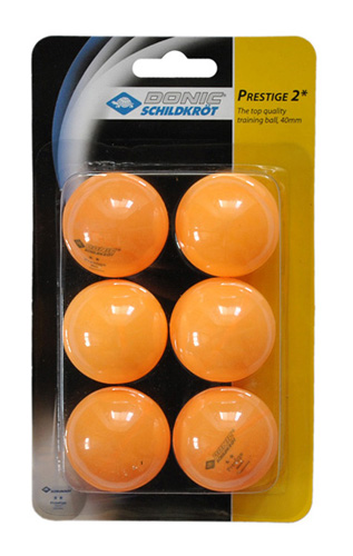 Мячи Donic (6 шт.) 2* желтые