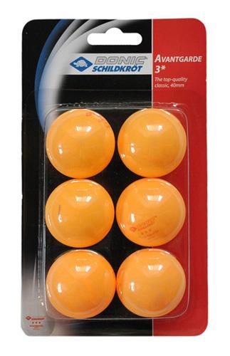 Мячи Donic (6 шт.) 3* желтые