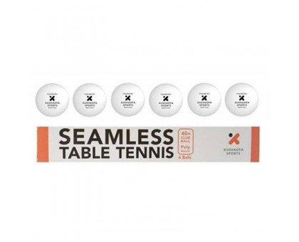 М'ячі для настільного тенісу Xushaofa 40+ (6 шт., Білий)