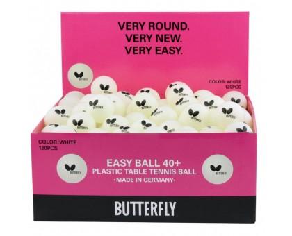 Мячи для настольного тенниса Butterfly Easy Ball 40+ (120 шт., белый)