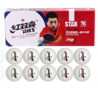 Мячи для настольного тенниса DHS 40+ 1 star ITTF (10 шт., белый)