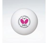 М'яч Butterfly 3 * S40 + Plastic (3 шт, білий) без коробки