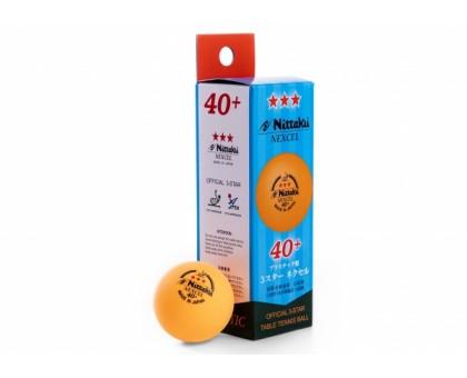 М'ячі Nittaku Nexcel 40+ 3 * (помаранчеві) (3 шт.)