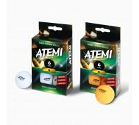 М'ячі для настільного тенісу Atemi 1 * 6 шт білі 40+