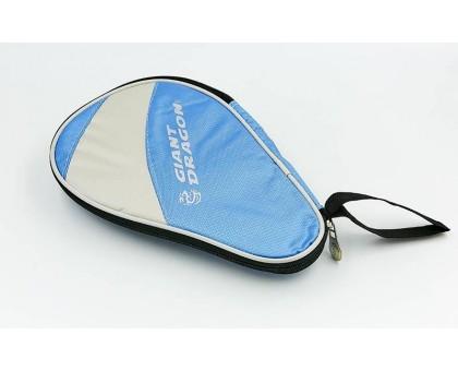 Чехол на ракетку для настольного тенниса Giant Dragon MT-6549-LB (полиэстер,р-р 28х2х18см,для 1-й ракетки, голубой-светло-серый)