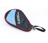 Чехол на ракетку для настольного тенниса Giant Dragon MT-6549-BK (полиэстер,р-р 28х2х18см,для 1-й ракетки, черный-голубой)0983