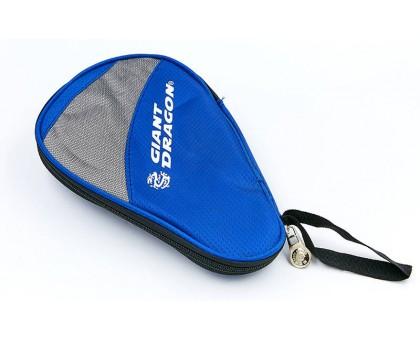 Чехол на ракетку для настольного тенниса Giant Dragon MT-6549-B (полиэстер,р-р 28х2х18см, для 1-й ракетки, синий-серый)