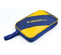 Чехол на ракетку для настольного тенниса Giant Dragon MT-6548-Y(полиэстер,р-р 31х20х4,5см,для 1-й ракетки, синий-желтый)