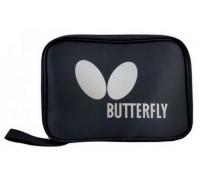 Чехол для одной ракетки Butterfly Logo прямоу, черный