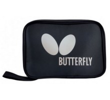 Чохол для однієї ракетки Butterfly Logo прямоу, чорний