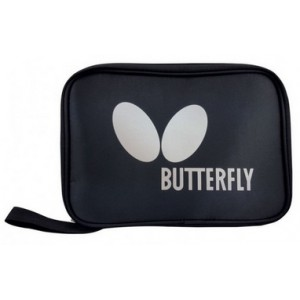 Чехол для двух ракеток Butterfly Logo прямоу, черный