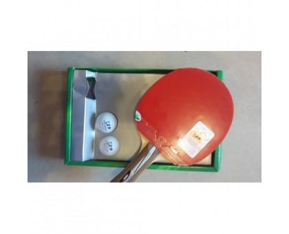 Набор для настольного тенниса 729 №2020 (ракетка, чехол, 2 мячика)