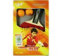 Набор для настольного тенниса 729 №2040 (ракетка, чехол, 2 мячика)
