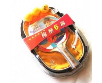 Набір для настільного тенісу 729 Friendship 6210 6 star (ракетка, сумка, 3 м'ячика)
