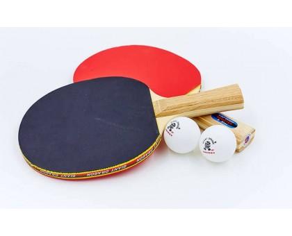 Набір для настільного тенісу Giant Dragon SHOOTER 2 (2 ракетки, 2 м'ячі c чохлом) MT-5682