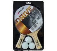 Набір для настільного тенісу Butterfly Drive Set (2 ракетки + 3 м'ячі)