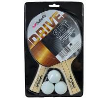 Набор для настольного тенниса Butterfly Drive Set (2 ракетки + 3 мяча)