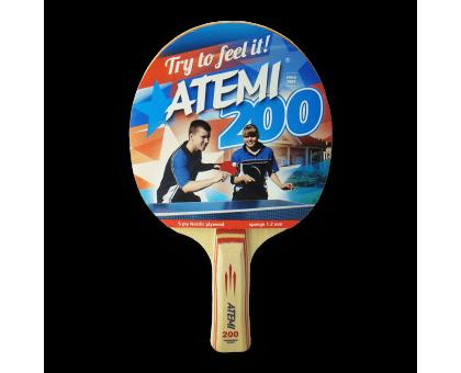 Ракетка для настільного тенісу Atemi 200 (A -анатомічна)