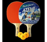 Набір для настільного тенісу Atemi DUET (2 рак+3 м 1*)