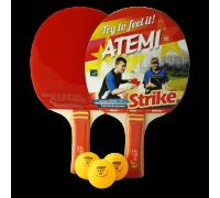 Набір для настільного тенісу Atemi Strike (2 рак+3 м 3*)