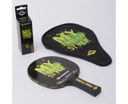 Набор для настольного тенниса Donic Urban (ракетка + 3 мяча + чехол)