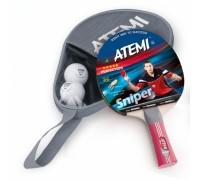Набір для настільного тенісу Atemi Sniper (1 рак+3 м 3*)