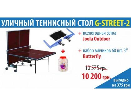 Уличный теннисный стол Compact Street + Сетка Joola Outdoor + 60 шариков ***