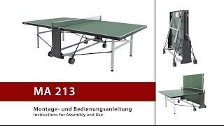 Сборка теннисного стола Donic Outdoor Roller 1000