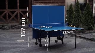 Обзор всепогодного теннисного стола